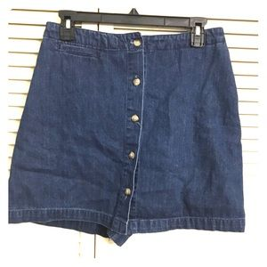 WHITE STAG Jean Skort with Buttons